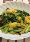 ごま油香る♪ 小松菜と卵の中華炒め