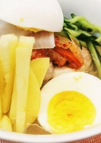 お家で簡単本格なピョンヤン冷麺평양냉면!