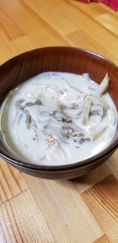 豆乳&舞茸❁食べるスープ❁味噌汁