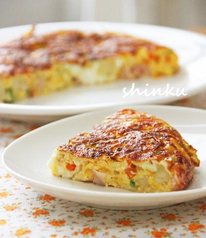 簡単*彩り野菜のスパニッシュオムレツ