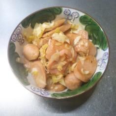 魚肉ソーセージとネギの簡単炒め