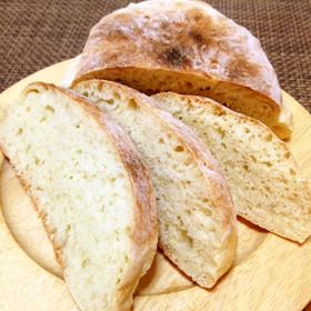 簡単パン作り☆ほんのり甘いこねないパン