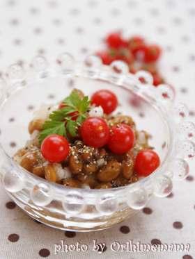 ○マイクロトマトdeプチプチ納豆○