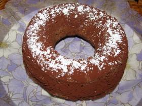 オーブントースターでチョコケーキ