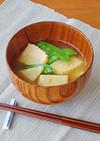 筍と絹さやの味噌汁
