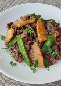 筍と牛肉の炒め物