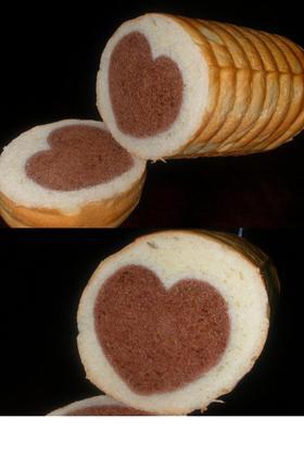 レンジパンで「愛のハートパン」♪