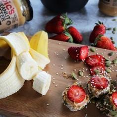 ピーナッツバターのフルーツSUSHI