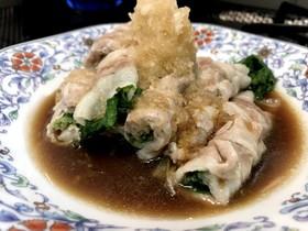 豚肉と水菜のおろしポン酢
