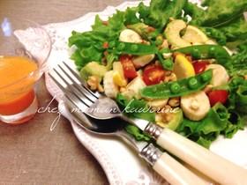 便秘解消☆彡青バナナとナッツの健康サラダ