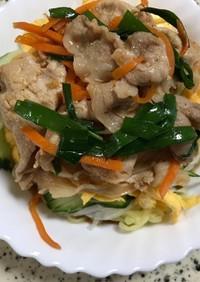 マルちゃん正麺で作る韓国風冷やし中華