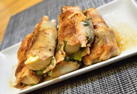 豆腐と大葉味噌の豚肉巻き