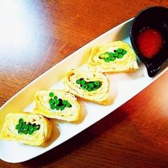 一工夫で中華風の彩り卵焼き