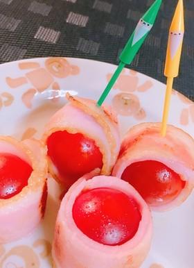 お弁当に♬ベーコンくるくるプチトマト