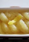 グレープフルーツ茉莉花茶シロップマリネ