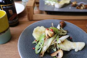 テーブルグリルで白身魚のソテー焼野菜添え