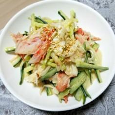 玉ねぎヨーグルトときゅうりのサラダ