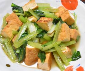 小松菜と厚揚げのあんかけ炒め煮