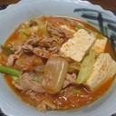 おひとりさまの豚キムチ豆腐