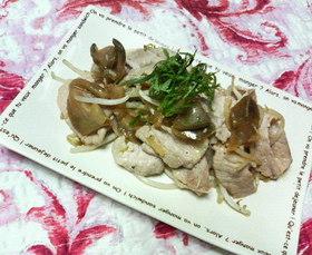 ✿ザーサイ&もやしと❀豚薄切り肉の✿炒め