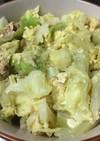 100円以下で作るキャベツの炒め物