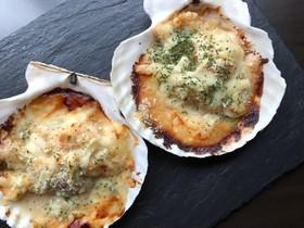 殻付きホタテのクリーム味噌チーズ焼き