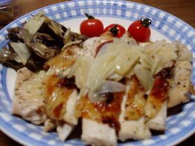 鶏のグリル焼き~白ワインの簡単ソース~