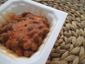 納豆とキムチ汁・簡単おつまみ