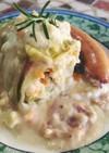 豆腐ロールキャベツのクリーム煮☆ヘルシー