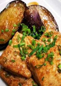 茄子と豆腐のポン酢焼き