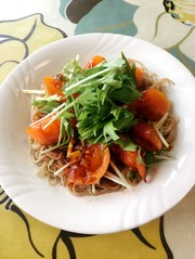ガーリックトマトと水菜のビビン冷麺♪受賞の写真