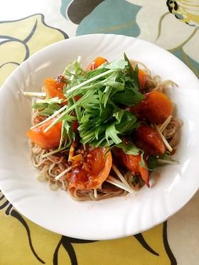ガーリックトマトと水菜のビビン冷麺♪受賞