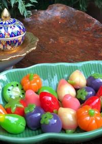 タイ♡緑豆の餡子で作る野菜のお菓子
