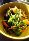 野菜とモズクと塩昆布の和え物