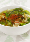 野菜とシュウマイのあんかけスープ