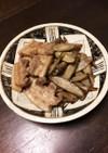 厚切り豚とごぼうの煮物、塩麹入り!