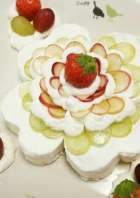 四つ葉のクローバーのショートケーキ