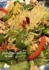 ピーマンとパプリカ、春雨の炒め物