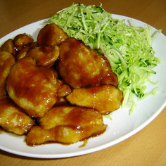 鶏ムネ肉の☆くわ焼き