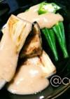 胡麻香る酢味噌で戴く焼き茄子とオクラ