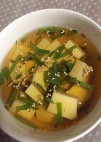 大葉ときゅうり冷製スープそうめんにも
