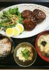 夕飯(7/11)ひじきの煮物ハンバーグ