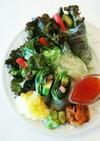 カニかまとアボカドの生春巻サラダ