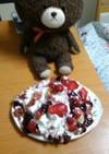 苺さくらんぼフルーツパンケーキ(本格派)