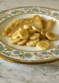 クレープ ミルクキャラメルバナナソース