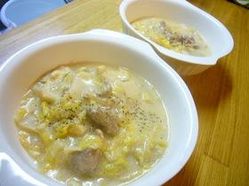 白菜のクリーム煮~塩辛風味