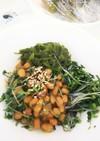 ブロッコリースプラウトとめかぶの納豆