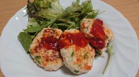 ヘルシーな鶏肉と豆腐ハンバーグ