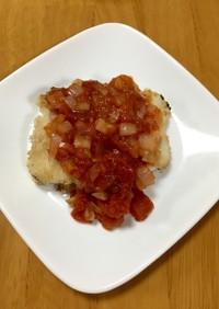 大人の給食☆かじきのトマトソース