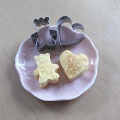 幼稚園お弁当に可愛い簡単型抜き卵焼き♪
